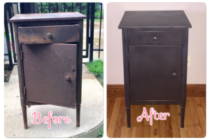 Vintage Metal Tool Chest Makeover