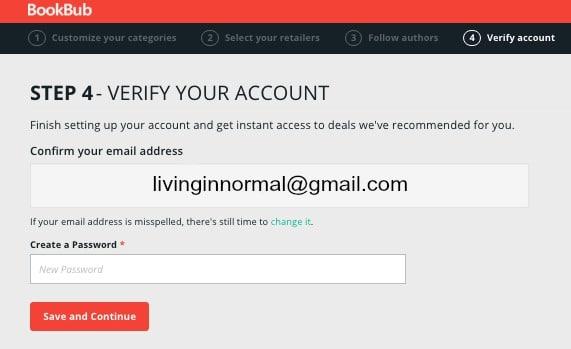 BookBub free and discounted eBook verification