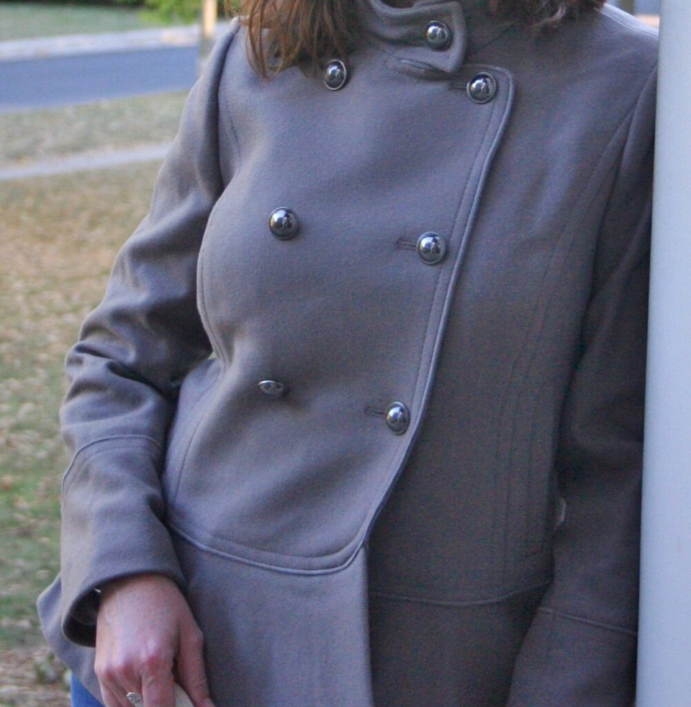 Peplum-Hem Italian Wool-Blend Coat and Rechargeable Leather Tote